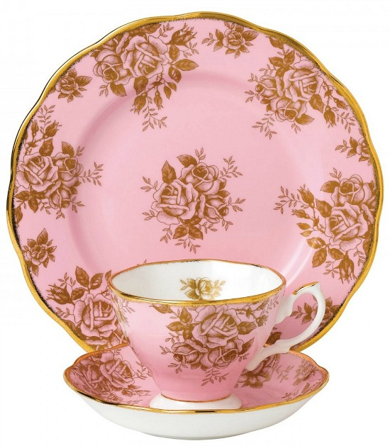 100 Years Of Royal Albert 1960 Golden Rose 3-Piece Place Setting