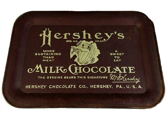 Vintage Hershey's Milk Chocolate Metal Tray
