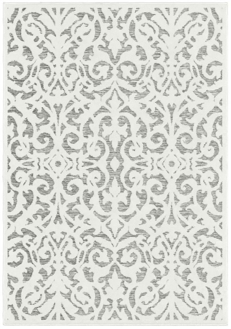 My Texas House by Orian Indoor Outdoor Lady Bird Natural Gray Area Rug