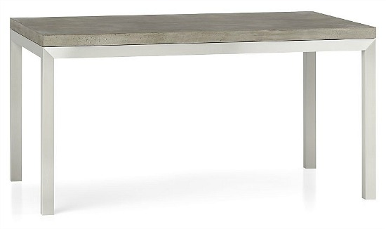 Parsons Concrete Top/ Stainless Steel Base