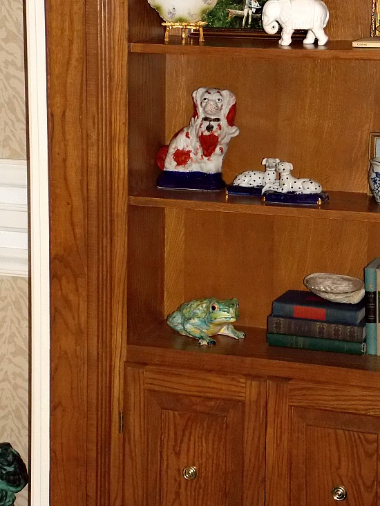 rearranging home decor accessories
