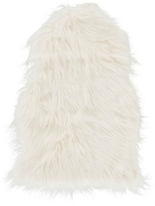 Faux-Fur Chair Throw, White