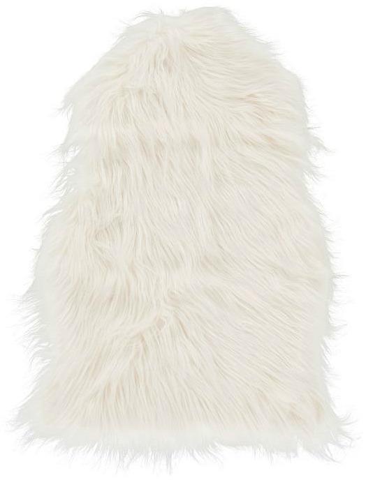 Faux-Fur Chair Throw, White