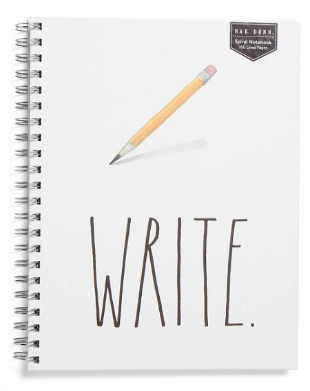 RAE DUNN Extra Large Write Spiral Notebook