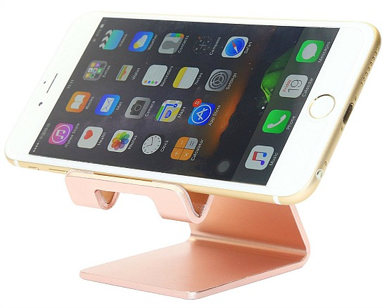 Honsky Solid Portable Universal Aluminum Desktop Desk Stand Hands Free Mobile Smart Cell Phone Holder Tablet Display Stand,