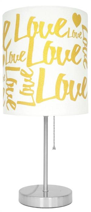 Gold Love Stick Lamp