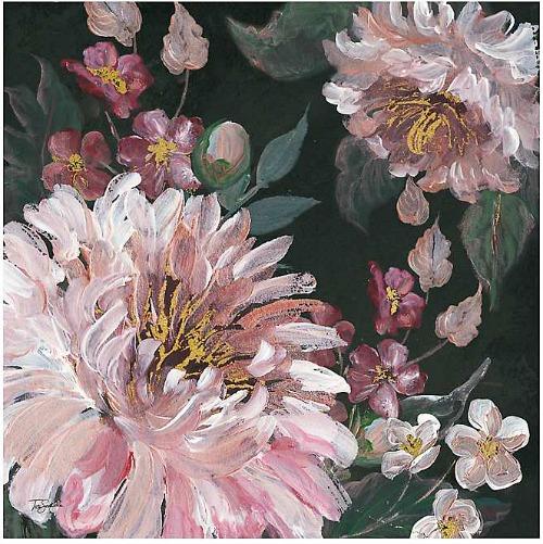 Romantic Moody Roses Giclee Canvas Print