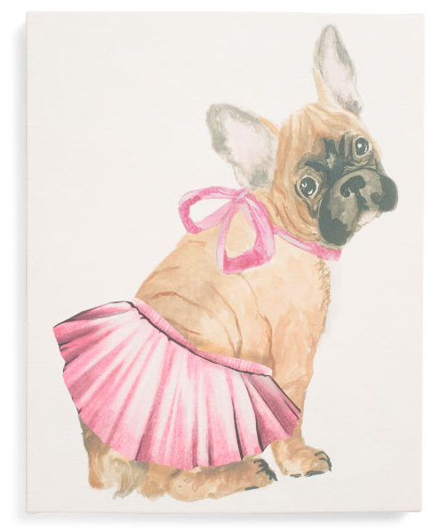 Tutus And Bows Canvas Wall Art