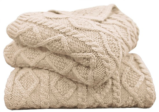 "Hiend Accents Cable Knit 50""x60"" Throw"