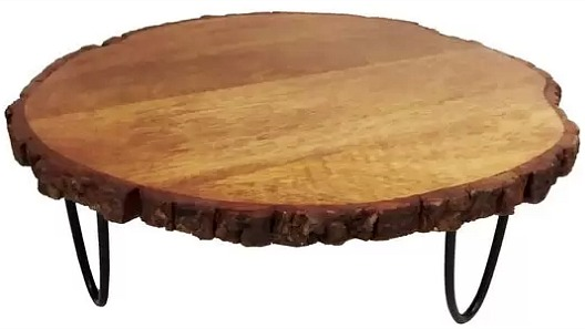 Wooden Slice Cake Stand