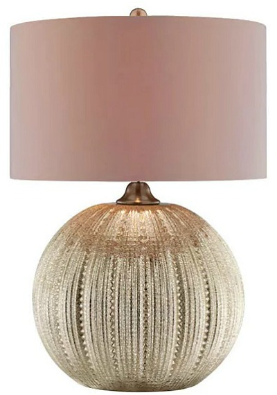Simeon Pumpkin-shaped Glass Base Table Lamp