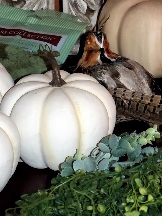 pumpkins fall arrangment