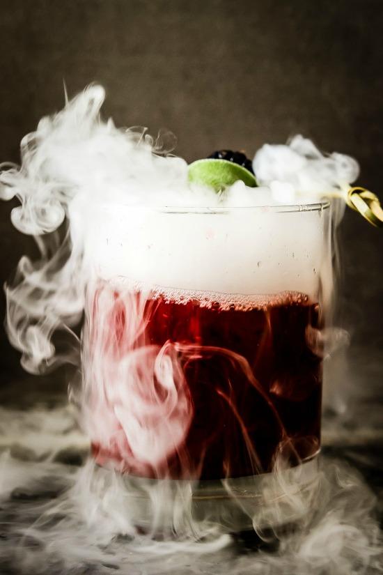 smoking blackberry sage margarita