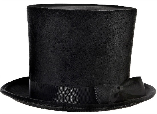 Victorian-style-felt-top-hat