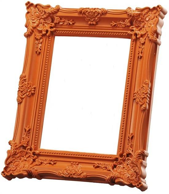 baroque-orange-picture-frame