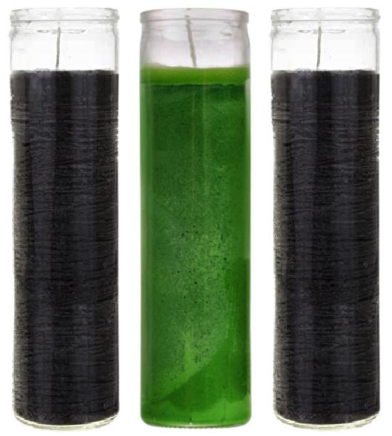 black-green-tall-candles