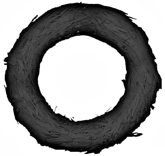 black-straw-wreath