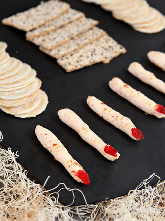 Spooky Goat Cheese Fingers