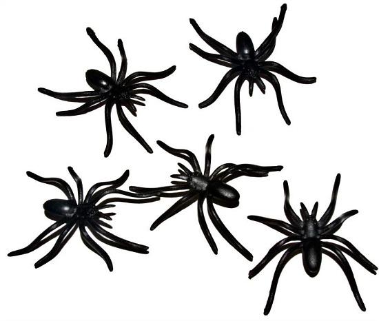plastic-spiders