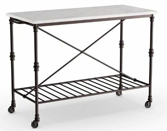 Carbon Loft Owen Rolling Kitchen Island