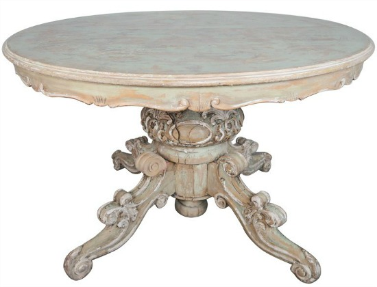 Louis-XV-painted-French-dining-table