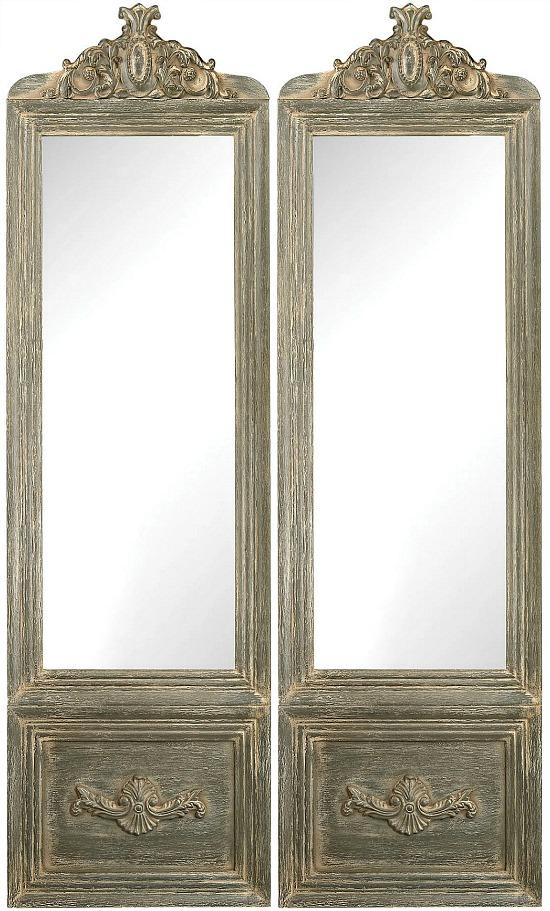 Bastille Floor Mirror - White/Grey