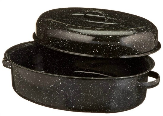 graniteware-oval-roaster-black