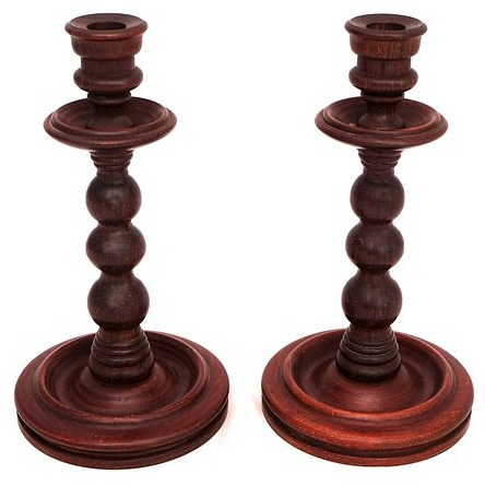 wooden-candlesticks