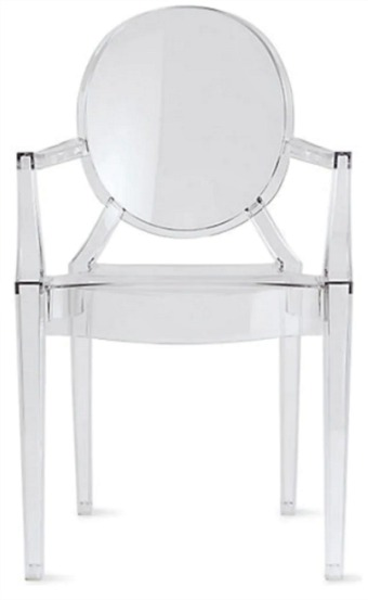 2xhome Designer Transparent Dining Chairs