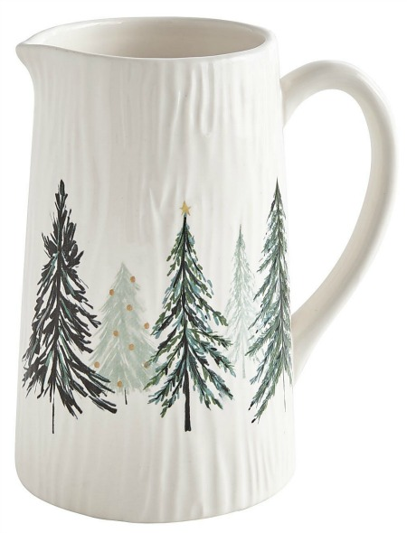 All Spruced Up Ceramic Pitcher