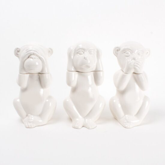 Allesandra Monkeys 3 Piece Whiskey Decanter Set