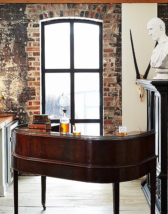 Antique-desk-as-home-bar-Darryl-Carter-Home_ (1)