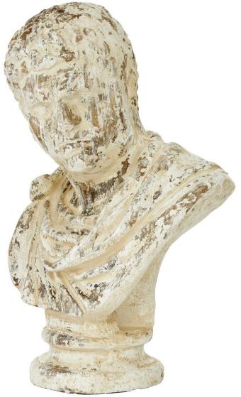 Beige Polystone Vintage Sculpture