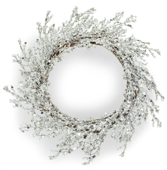 Belham Living Silver Christmas Wreath