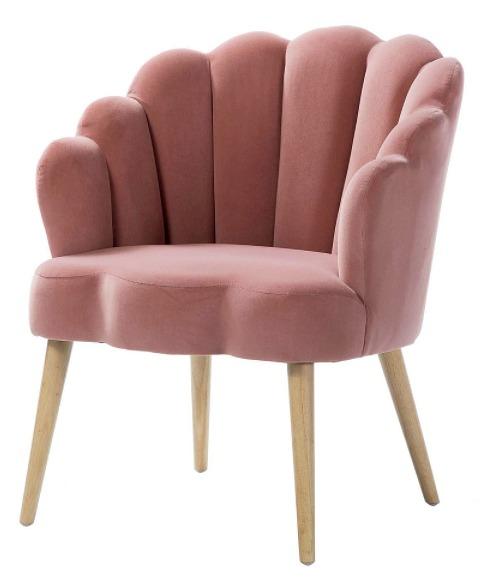 Carson Carrington Ullnasnoret Scalloped Velvet Arm Chair