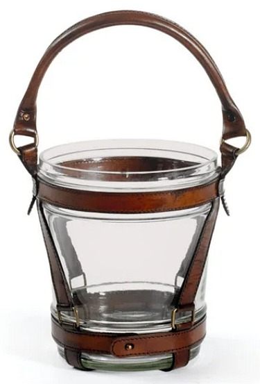 Clear Dark Leather Strap Wine Cooler