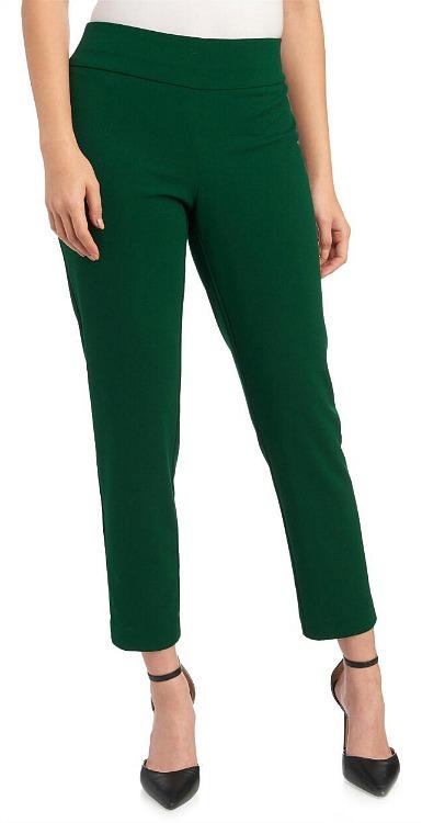 Crepe Slim-Straight Pants