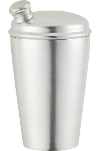 Degroff silver cocktail shaker