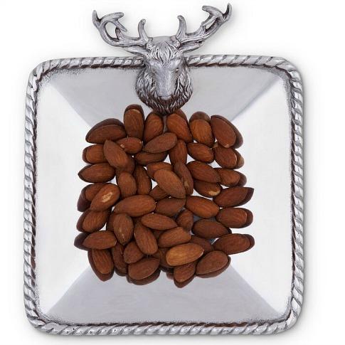 Forest Elk Head Nut Bowl