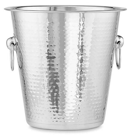 Hammered Stainless-Steel Champagne Bucket