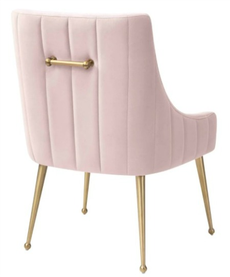 Irina Dining Chair Modern Easy Clean Velvet Upholstered Side Chair with Brushed Gold Leg 1