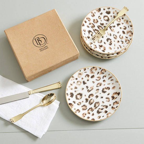 Leopard Accent Plates - Set of 4