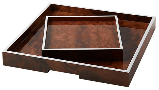 Marq burl wood trays