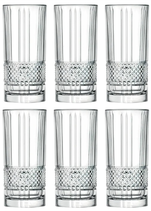 Majestic Gifts Inc. S/6 Glass Highball Tumblers