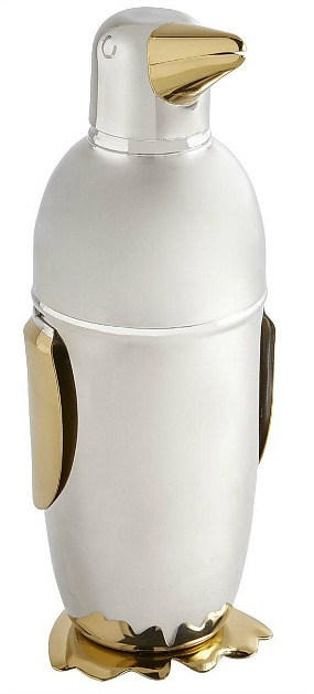 Metallic Penguin Cocktail Shaker