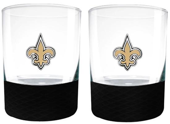 NFL New Orleans Saints Commissioner Glass Set of 2