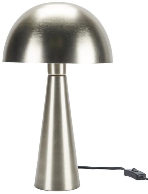 "Nourison 17"" Sleek Modern Iron Mushroom Table Lamp - Silver"