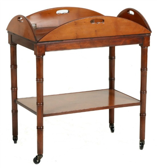 Old Colony Furniture Co. Faux Bamboo Butlers bar cart