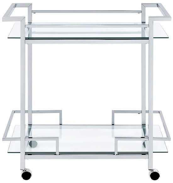 Picket House Furnishings Lucca Bar Cart in Chrome