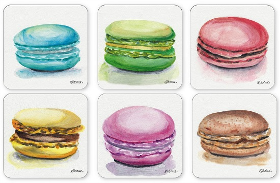 Pimpernel Macarons Set of 6 Coasters